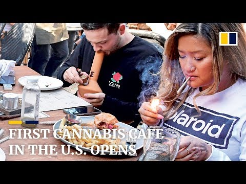 First cannabis cafe in the US opens