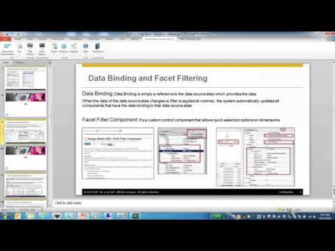 SAP Design Studio – Exploring RRI, Bookmarking and Data Binding