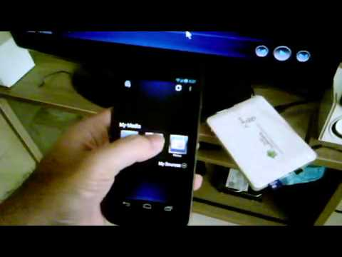 Streaming video from Android device to Android TV Box or DLNA TV using aVia Media Player app