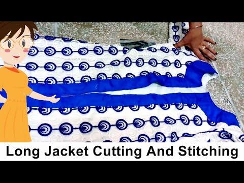 Long Jacket Cutting And Stitching Diy Tailoring With Usha Youtube