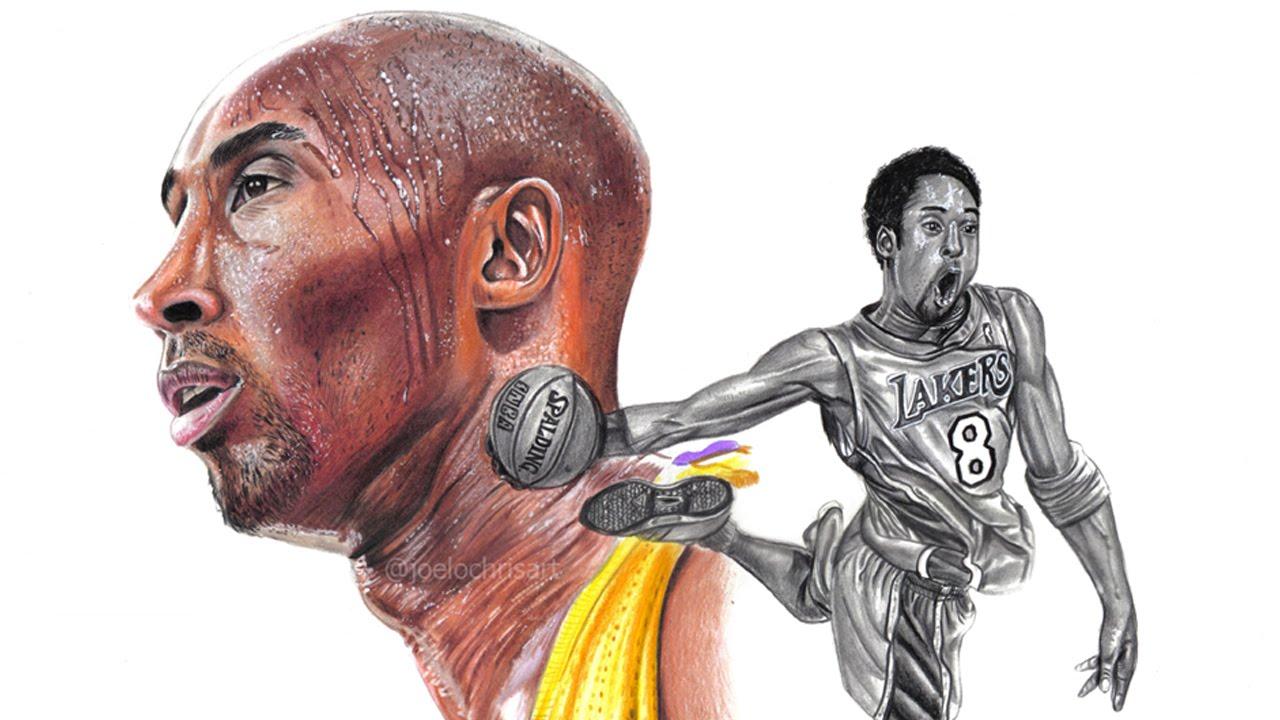 Cool Nba Drawings: Drawing Kobe Bryant The Black Mamba #NBA #Thisiswhyweplay