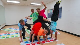 HILARIOUS FAMILY TWISTER CHALLENGE!!! thumbnail