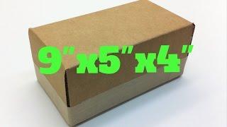 كيفية جعل 9'' × 5'' x 4'' من الورق المقوى