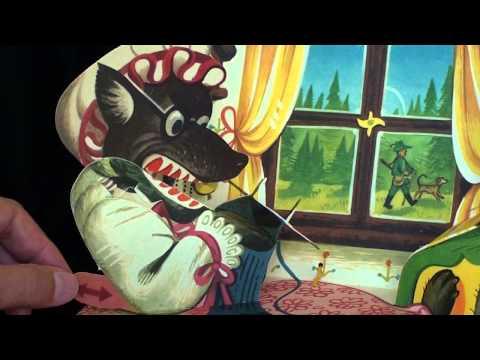 """Red Riding Hood"" pop-up book illustrated by Vojtěch Kubašta"