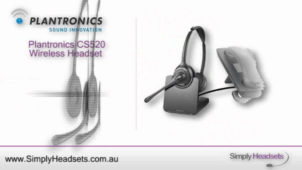 f474a4773ed Plantronics CS520 Wireless Headset Video Overview. Simply Headsets