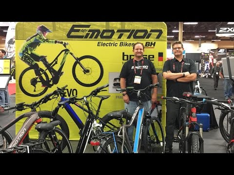 2017 Easy Motion Electric Bikes at Interbike (Evo Pro, Revo Wave, Revo Lynx)