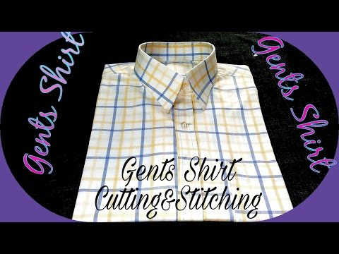Gents shirt cutting and stitching in Hindi