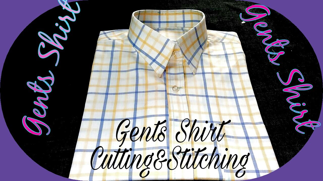 Gents Shirt Cutting And Stitching In Hindi Youtube