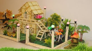 Wow! Amazing Biscuit House With Popsicle Sticks