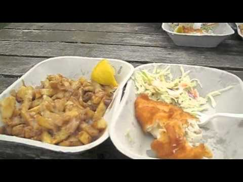 Jigger 39 s fish chips in ucluelet youtube for Terrace fish and chips