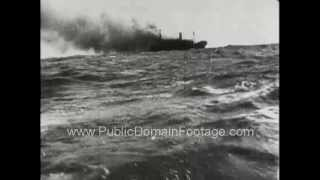 Captured German World War Two Newsreel 2 - German Battle ships www.PublicDomainFootage.com
