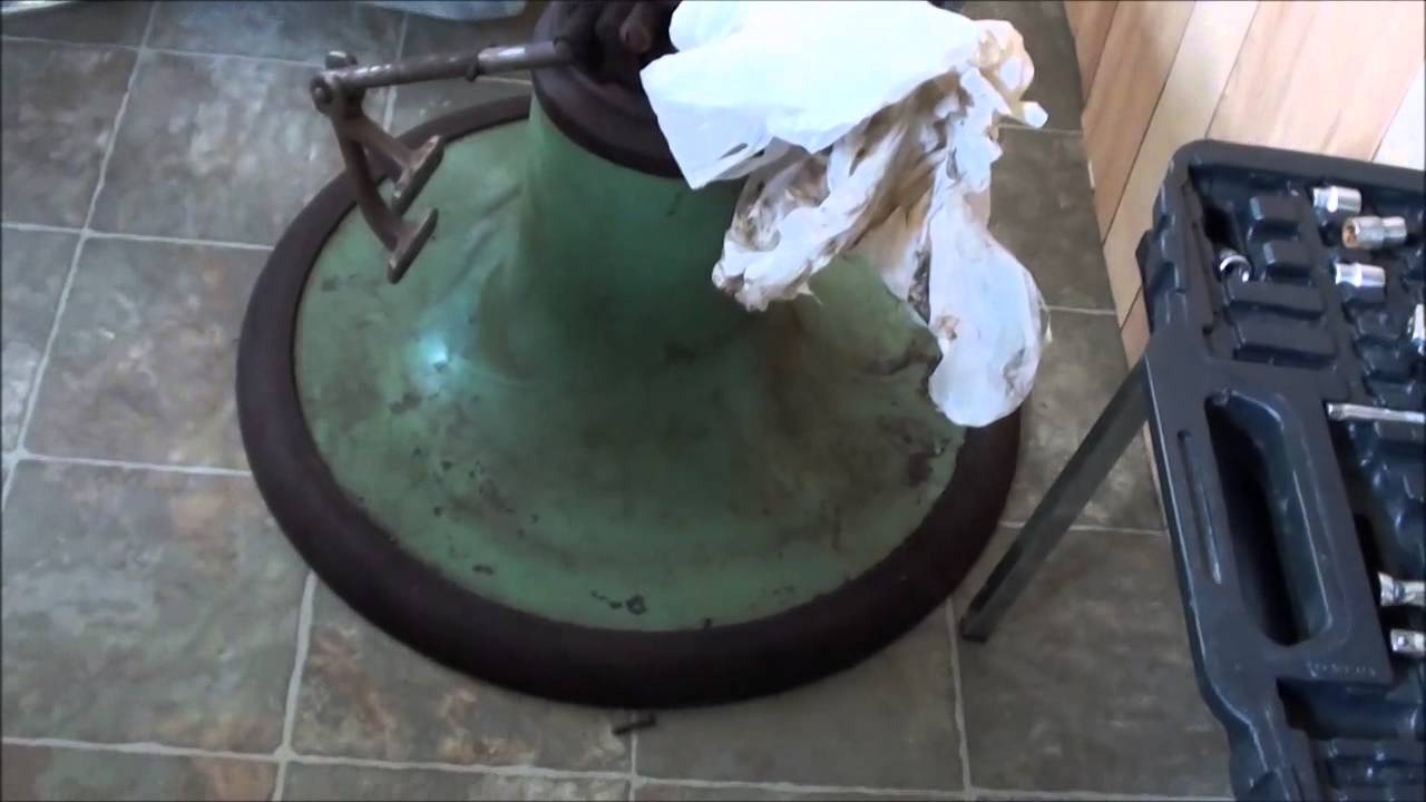 WORKING ON KOKEN BARBER CHAIR PUMP  YouTube