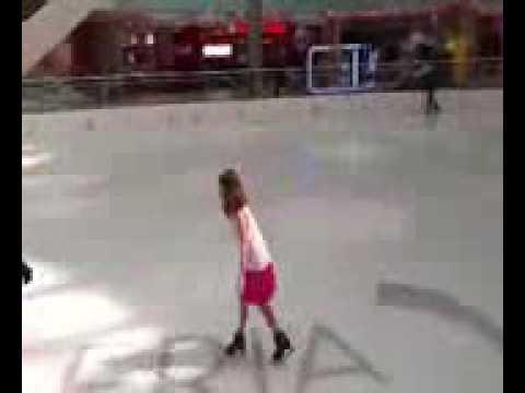Sarah ice skating