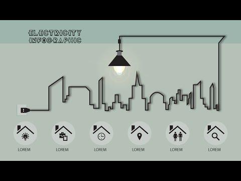 Illustrator CC Tutorial   Graphic Design   Infographic (Electricity)