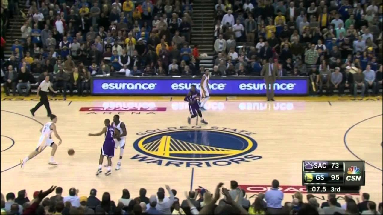 Klay Thompson scores NBA record 37 points in a quarter - YouTube