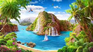 1 hour of Relaxing Tropical Caribbean, Beach u0026 Island Music ☀️????