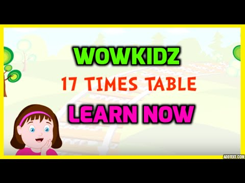 Musical tables - 17 Times Table - HD - YouTube