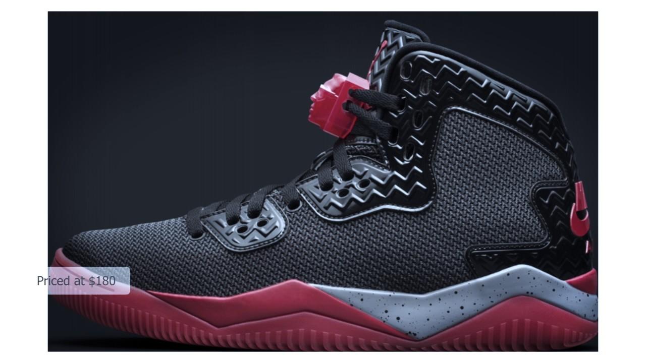 best website b151c 49524 Air Jordan Spike Forty PE Black Cement Grey-Fire Red
