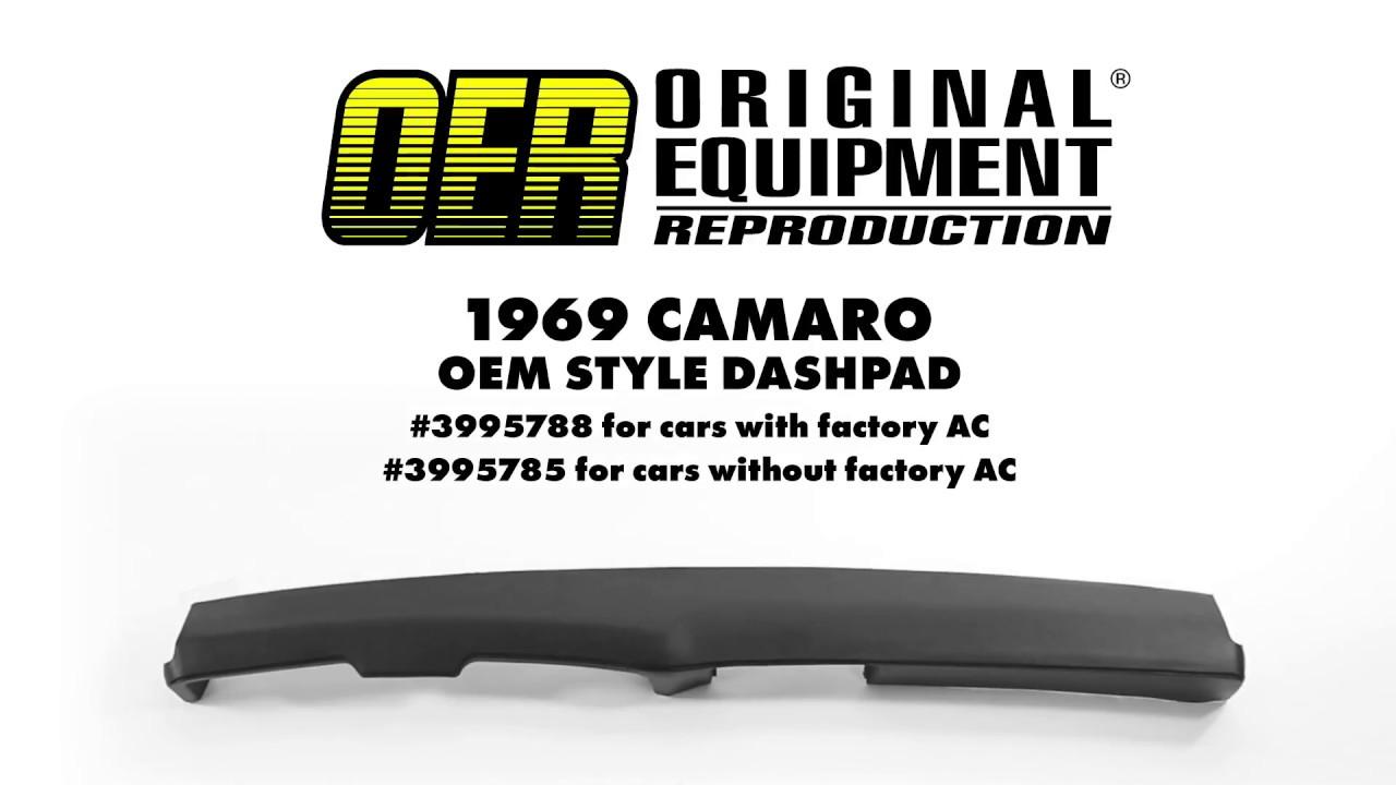 OER 1969 Camaro OEM Style Dash Pads