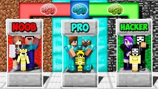 Minecraft Noob Vs Pro Vs Hacker  Family Block Brain Exchange In Minecraft  Animation