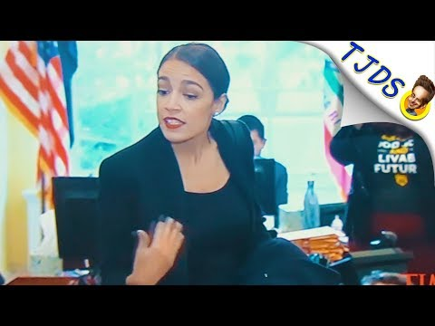 Ocasio-Cortez Joins Protest Inside Pelosi's Office