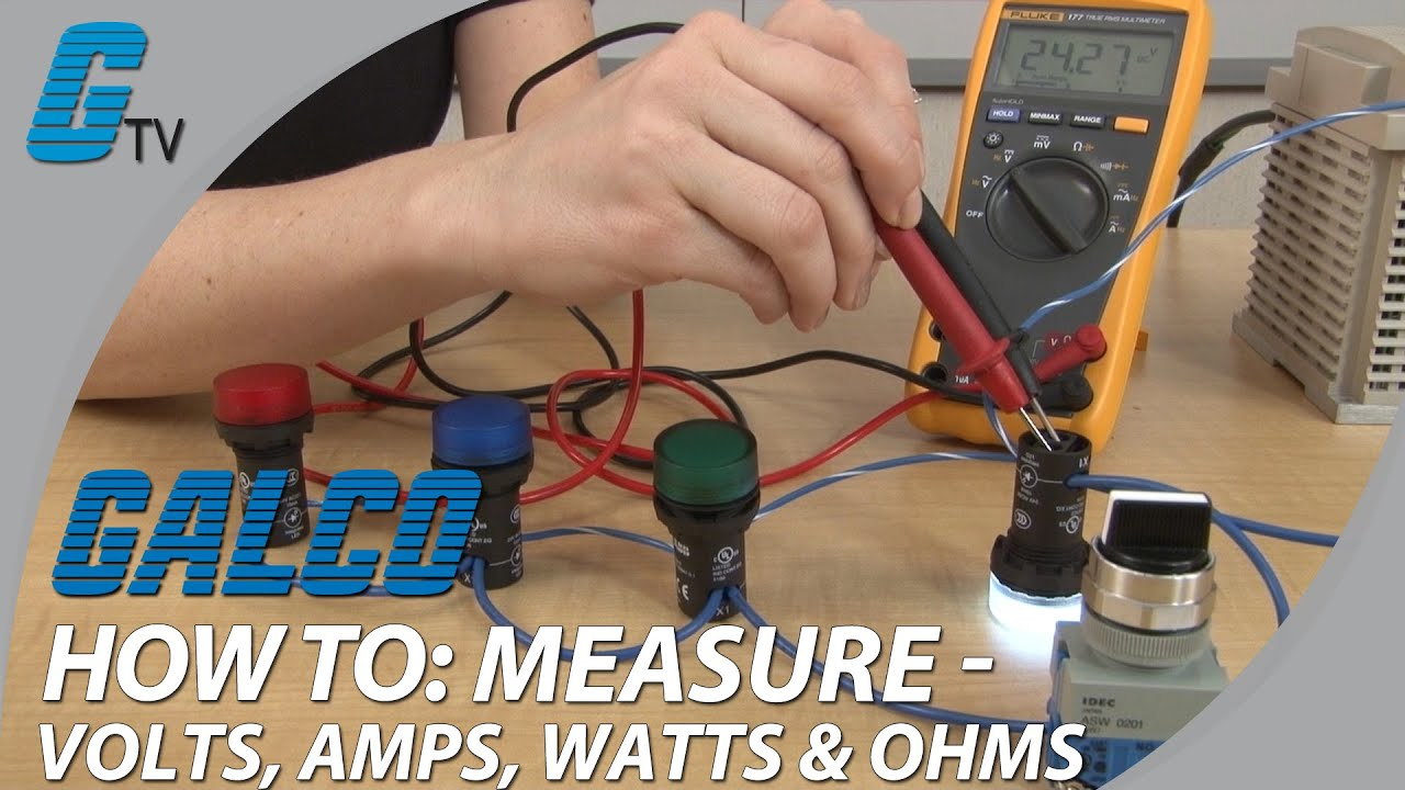how to measure volts amps watts ohms with a multimeter [ 1280 x 720 Pixel ]