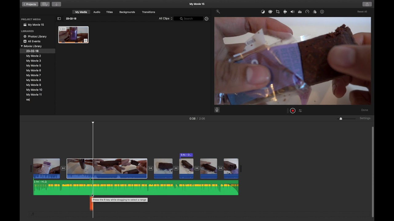 how do you record audio on imovie