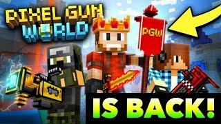 *NEW* PIXEL GUN WORLD is Coming Back?! (Huge Update)