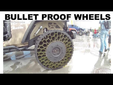 Bullet Proof Tires For The Civilian Market Sema 2015 Youtube