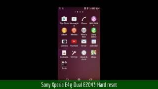 Sony Xperia E4g Dual E2043 Hard reset