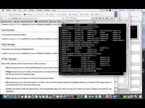 Demo walkthrough of C++ open source wxWidgets wxFormsBuilder with Python