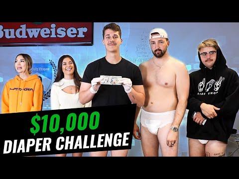 $10,000 ADULT DIAPER CHALLENGE!!