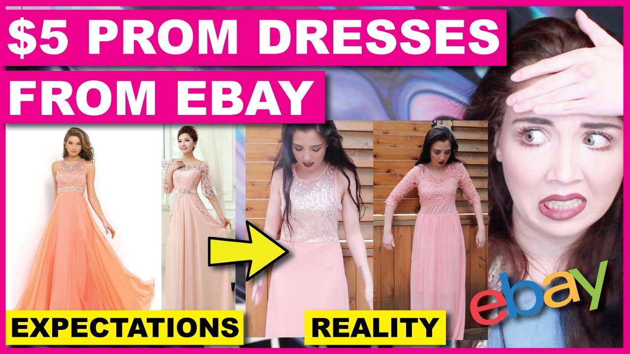 Trying On $5 Prom Dresses From Ebay | EPIC FAIL