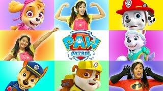 GIANT SMASH Paw Patrol Game with Skye and Ellie Sparkles