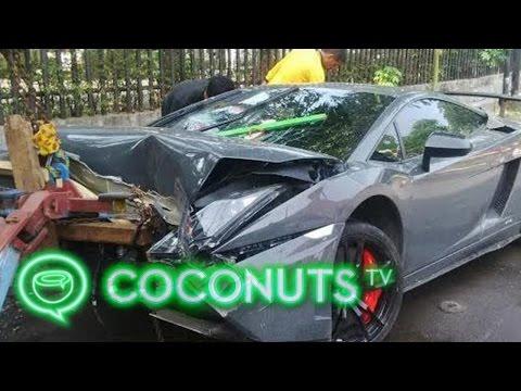 Indonesia Lamborghini Crash: Rich kid says he'll sue anyone who talks bad about him   Coconuts TV