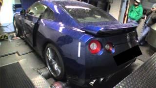 645bhp 2012 Nissan GTR R35 dyno pull @ Powerstation Rolling Road