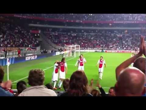 Thulani Serero celebrating his goal (Ajax vs. NAC Breda 25.08.2012)