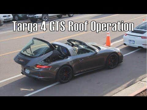 Porsche 911 Targa 4 Gts Roof Operation