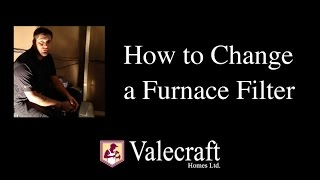 How to Change a Furnace Filter - New Home Maintenance