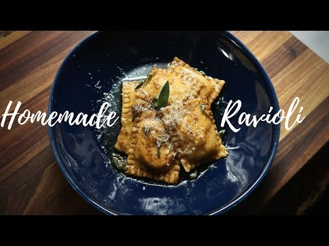 Pasta Night – Homemade Ricotta Ravioli with Browned Butter & Sage