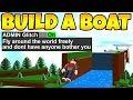 ADMIN MODE GLITCH In Build a Boat! *BROKEN*