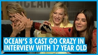 What's The Question??? Sandra Bullock, Sarah Paulson & Cate Blanchett - Ocean's 8 Interview