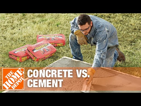 Concrete Vs Cement | The Difference Between Concrete & Cement | The Home Depot