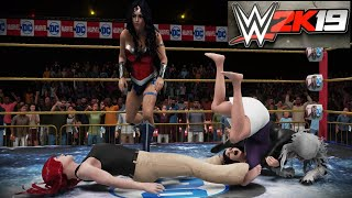 Wonder Woman/Black Cat v Lois Lane/Mary Jane Watson! - WWE 2K19 Requested Falls Count Anywhere Match