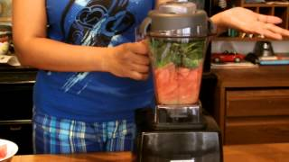 Vitamix Recipes - Watermelon Pineapple Green Smoothie