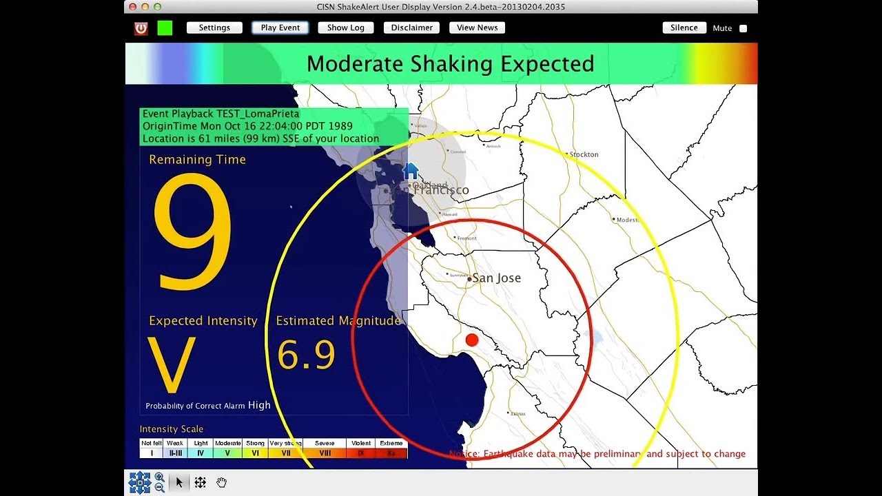 LIVE LOOK: Earthquake Early Warning Update