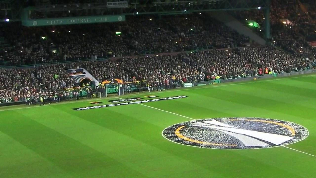 Celtic v Valencia Light Show Just Cant Get Enough YNWA 14-2-19