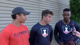 Illinois Track & Field 4x100m Relay Post-Prelims Interview