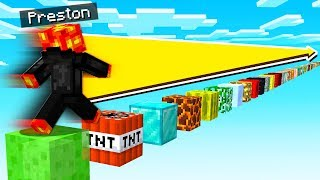 JUMPING ON EVERY BLOCK IN MINECRAFT POCKET EDITION!