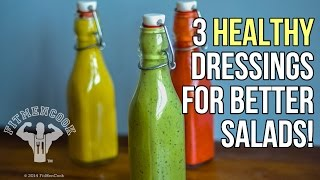 3 Healthy Homemade Dressings to Make Your Salad Pop / 3 Aderezos Caseros y Saludables